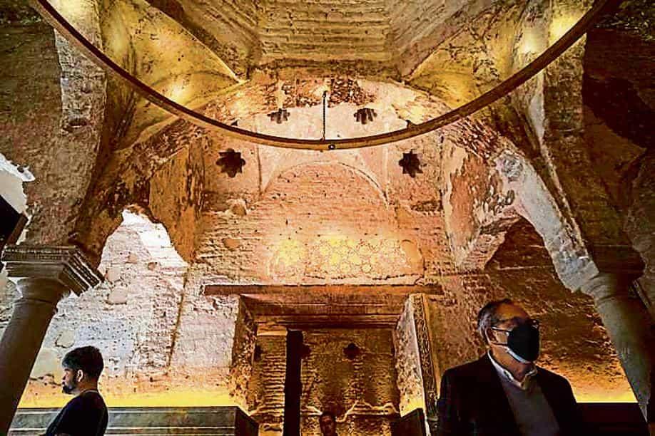 Se ha encontrado un antiguo baño español