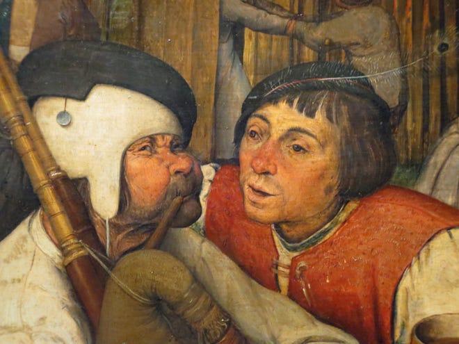 """Brugel """"danza campesina"""" En el Museo Kunsthistoriches de Viena."""