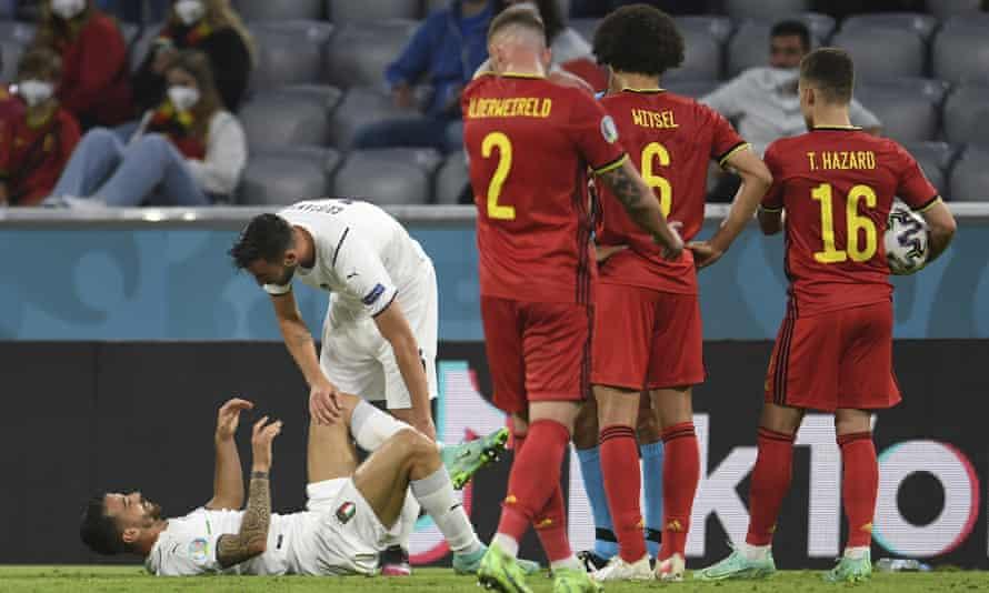 Leonardo Spinazzola se rompió el tendón de Aquiles en los cuartos de final ante Bélgica