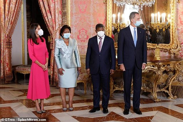 El monarca español ofreció un almuerzo en el Palacio Real de Madrid durante la visita oficial de João Manuel Goncalves Lourenço y su esposa Ana Afonso Dias Lourenço.