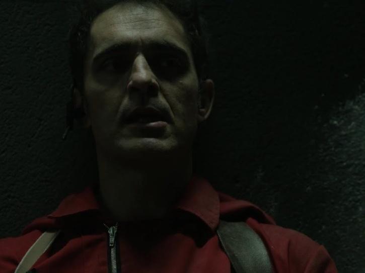 Escena de la muerte de Berlín en la temporada 2 de Money Heist.